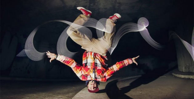 Breakdance Light Painting