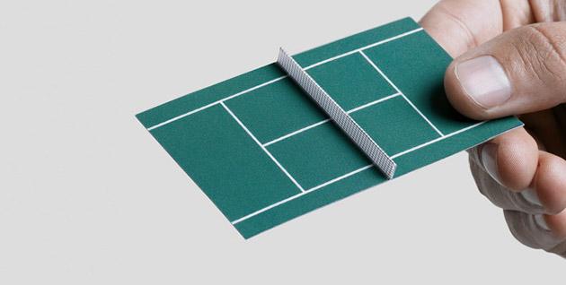TENNIS COURT BUSINESS CARD