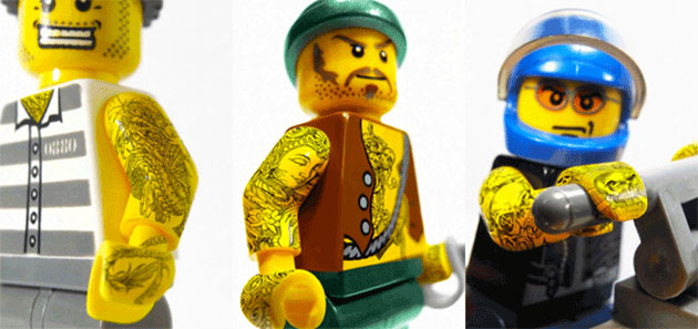 Tattooed LEGOs Advertising
