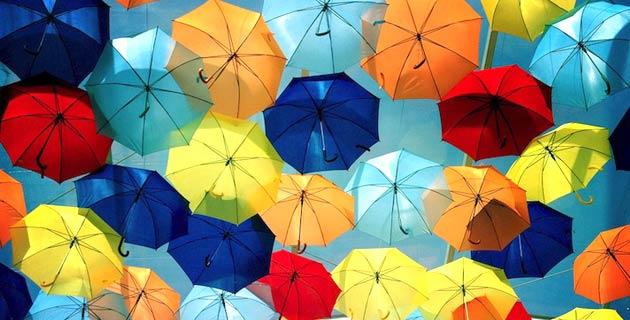 Canopies of Umbrellas in Agueda