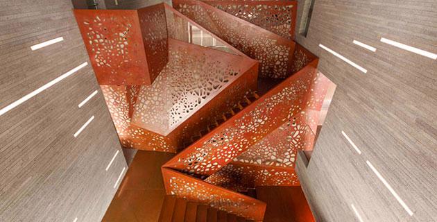Villa Mallorca's Geometrically Staircase