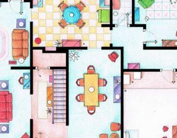 Floorplans Of Famous TV Shows
