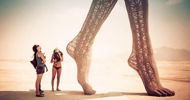 Gorgeous Sculpture at Burning Man
