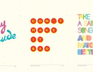 Hey Jude typographic project