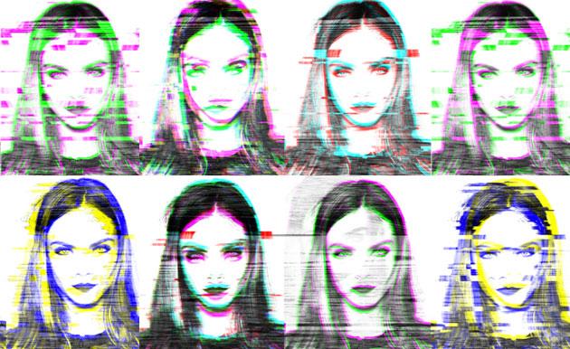 Glitch Digital Art – Cara Delevingne