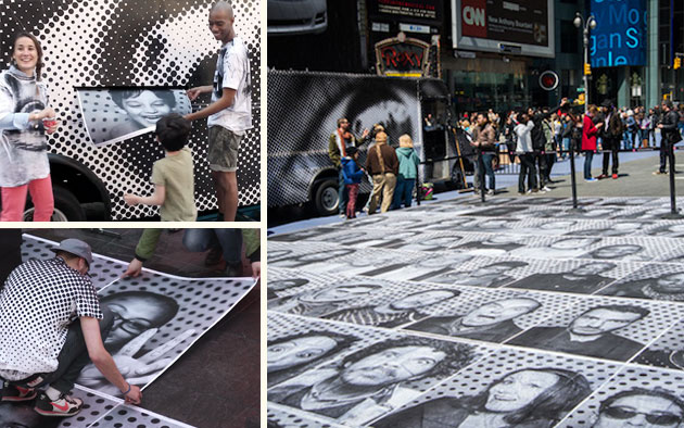 Inside Out New York City | 6,000 portraits in Times Square