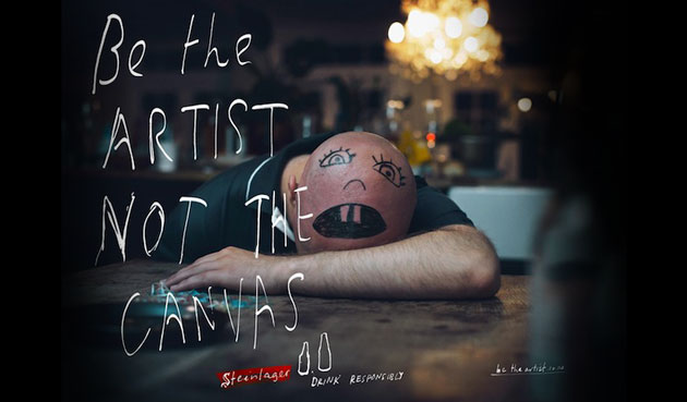 Steinlager – Be the artist not the canvas