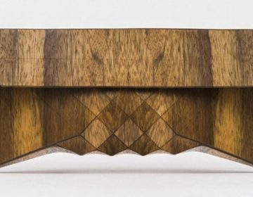 Wooden Clutch by Tesler + Medelovitch
