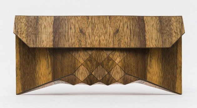 Wooden Clutch by Tesler + Medelovitch