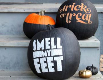 DIY typography pumpkins