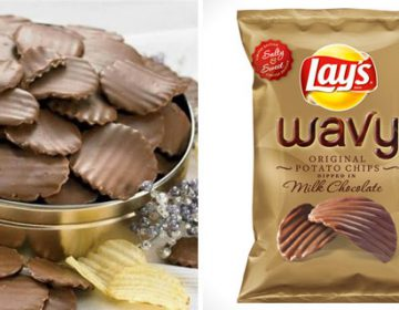 Chocolate potato chips by Lay's