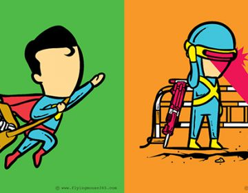 Super heroes second jobs | Chow Hon Lam