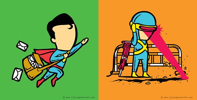 Super heroes second jobs | Chow Hon Lam