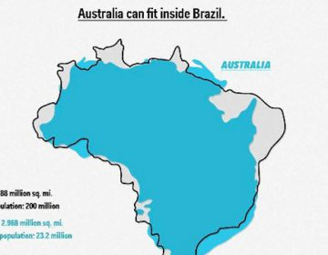 Illustrated Maps That Compare The Land Areas Of Countries