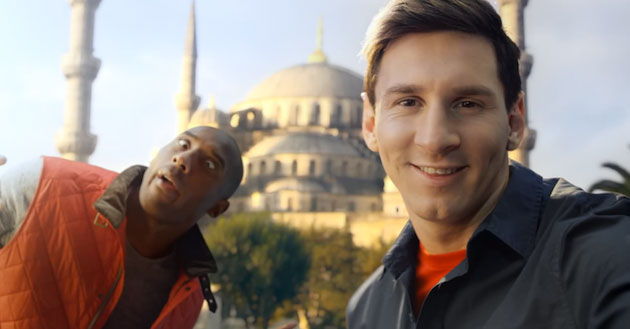 Kobe vs. Messi: The Selfie Shootout