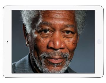 iPad Art | Morgan Freeman Finger Painting