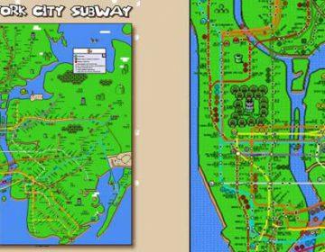 Super Mario New York Subway