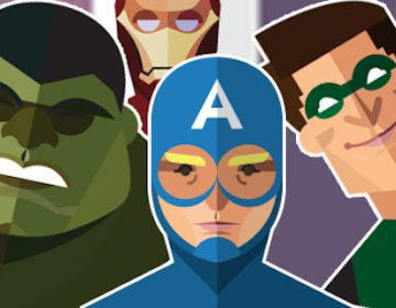 Flat Super Heroes | Jeffrey Rau