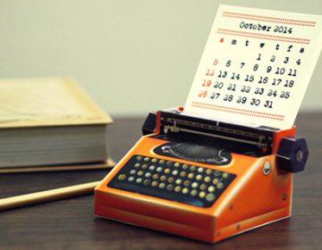 DIY Printable Paper Typewriter Calendars