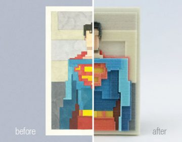 3d prints of iconic images | A. Lister + I. Budmen