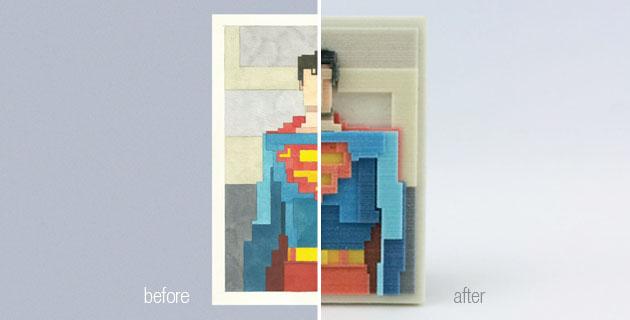 3d prints of iconic images | A. Lister + I. Budmen
