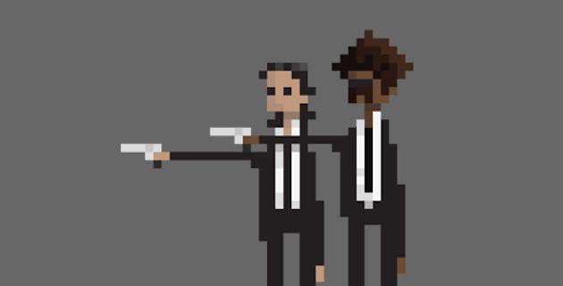 8-bit pixel movie gif | Dusan Cezek