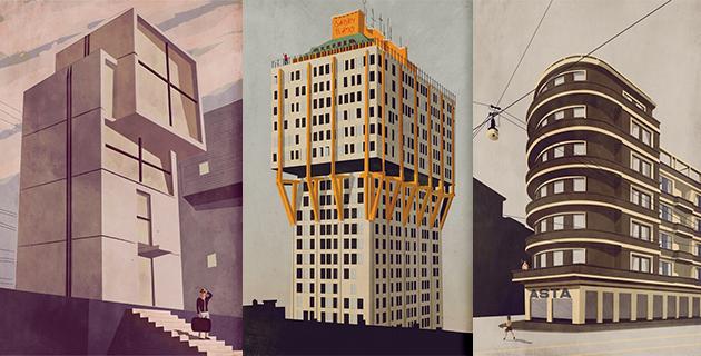 Architectural Illustrations | Giordano Poloni