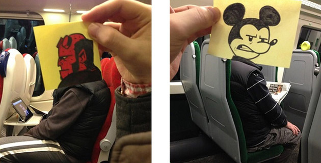 Artist Turns Train Passengers Into Funny Characters