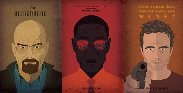 Breaking Bad' Posters by Zsolt Molnár