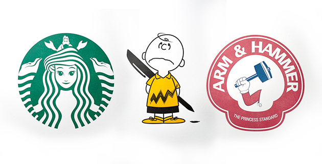 Classic Cartoons Characters Reimagined As Famous Logos