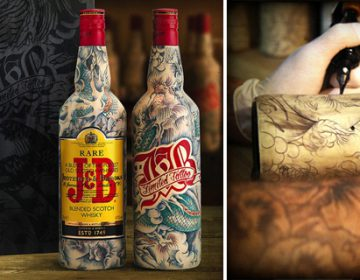 Inked J&B Bottles   Sébastien Mathieu