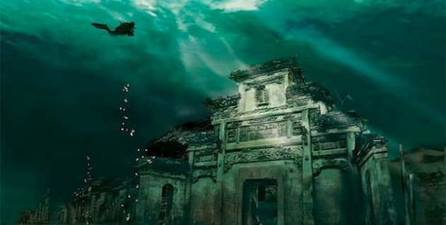 Lost City found Underwater in China