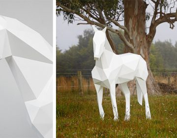 Polygonal Animal Statues | B. Foster