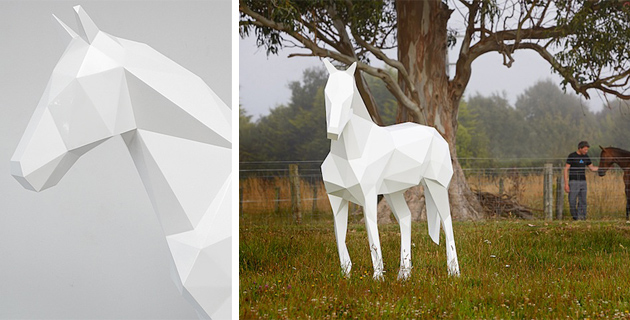 Polygonal Animal Statues | B. Foster