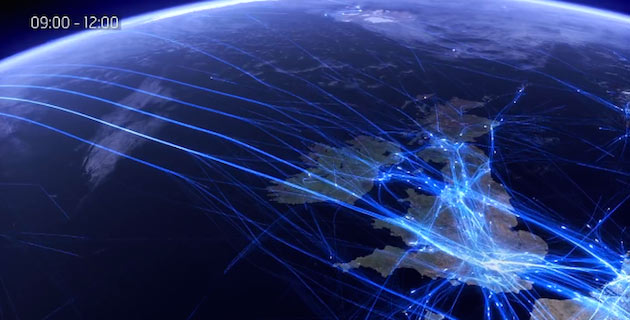 Europe 24 – an air traffic data visualisation