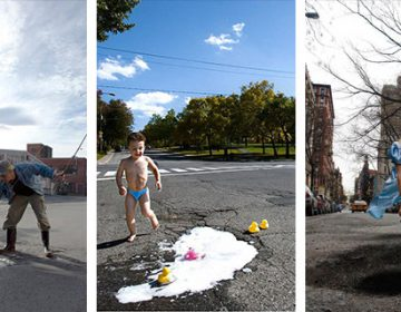 Artists Turn Annoying Potholes Into Creative Scenes