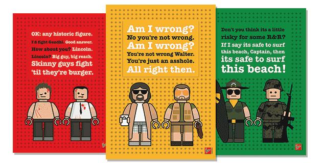 LEGO Minifig Dialogo Poster