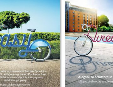 London Cycling Typographic Ads