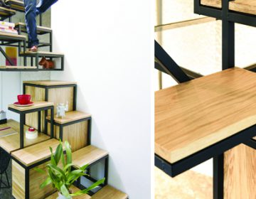 suspended stairs + all-in-one office