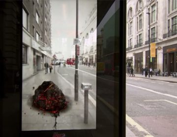 Augmented reality bus shelter   Pepsi Max