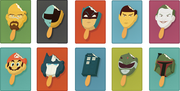 Pop Culture Characters Into Popsicles   A. Heath