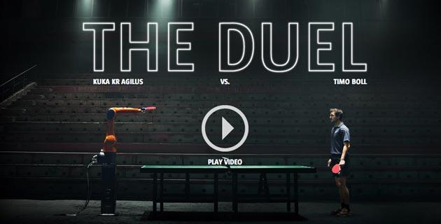 KUKA Robot vs. Timo Boll: The Duel