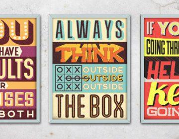 Retro Vintage Motivational Quotes | Vintage Vectors Studio