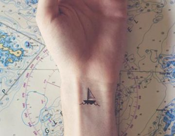 tiny tattoos with parallel landscapes