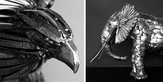 Incredible Animal Sculptures made from Cutlery | G. Hovey