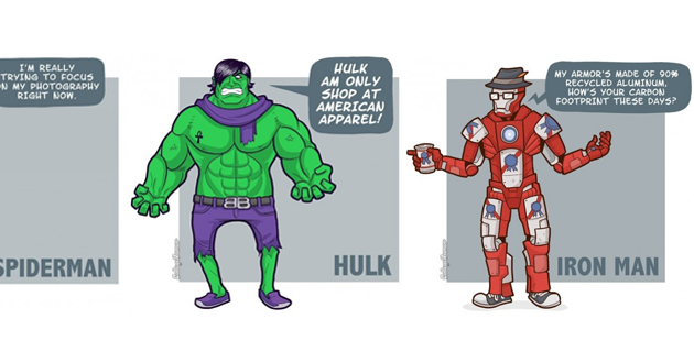 if Superheroes Were Hipsters