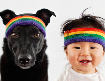 Mother Takes Adorable Portraits Baby and Their  Dog