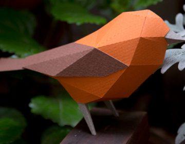 Geometric Paper Animals Sculptures | Estudio Guardabosques