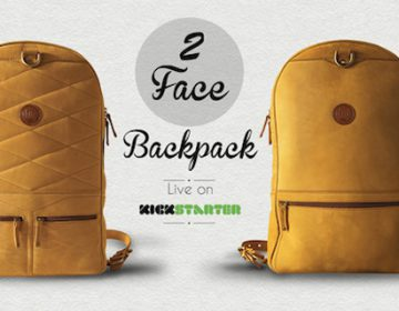 The first 2 sided leather backpack | 2Face Backpack