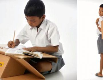 Portable desk Doubles As A Book Bag | Aarambh